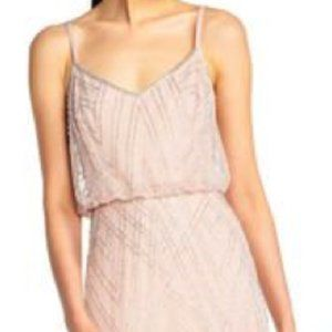 Adrianna Papell Diamond Beaded Blouson Dress